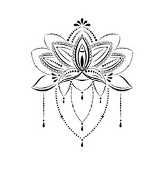 Yoga Lotus Flower Reflection Vector Images 33