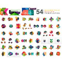Mega collection of 54 business paper style web vector