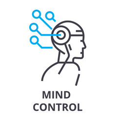 mind control thin line icon sign symbol vector image