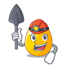 Miner simple gold egg on design character vector