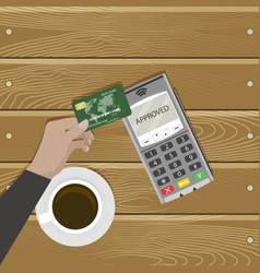 Modern kind pay card without contact vector
