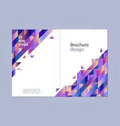 Modern template for business brochure or vector