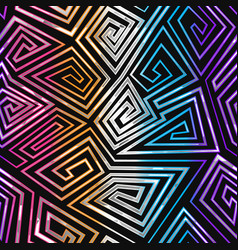 Neon geometric spiral seamless pattern vector