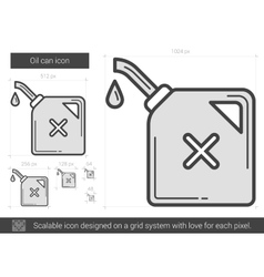 Oil can line icon vector