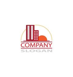 Real estate company logo vector