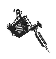 Retro tattoo gun or machine isolated vector