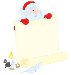 Santa Claus with ad vector image