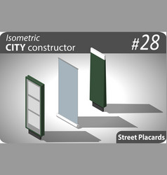 Set of modern isometric street billboards vector
