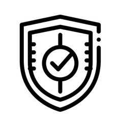 shield guard protection approved mark icon vector image