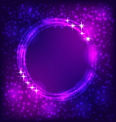 Shining circle border vector