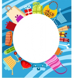 shopping card vector image