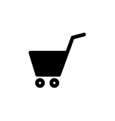 shopping cart basket icon vector image