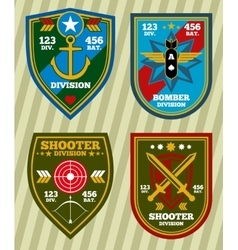 Special unit military army and navy patches vector