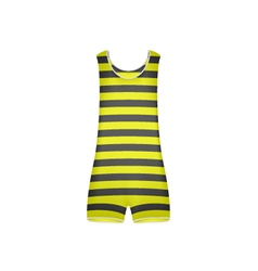 Striped retro swimsuit in yellow and black design vector