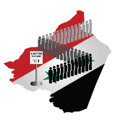 Syrian migration vector