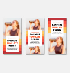 templates for vertical web banners with place vector image