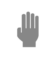 Three fingers up gray icon oath victory gesture vector