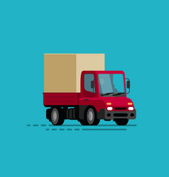 truck delivery moving transport trucking vector image