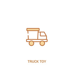 truck toy concept 2 colored icon simple line vector image