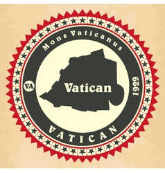 Vintage label-sticker cards of vatican city vector