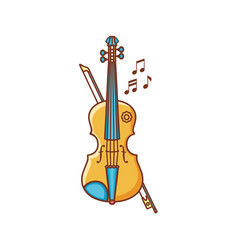 Violin musical instrument childs toy vector