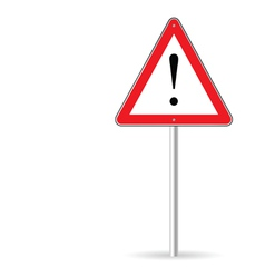 Warning traffic sign vector