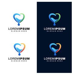 Water drop colorful logo vector