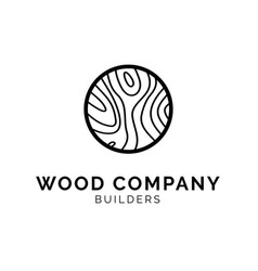 wood texture logo concept creative minimal design vector image