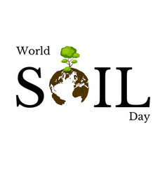World soil day the concept of an environmental vector