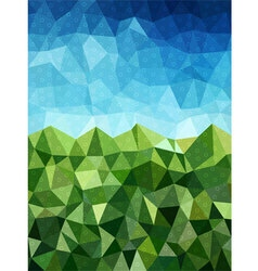 Blue and green background with circle pattern vector image