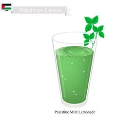 Limonana or in Palestinian Frozen Mint Lemonade vector image