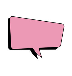Pink speech bubble dialog comic vector
