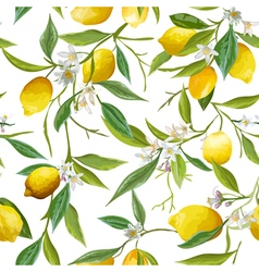 Seamless Pattern Lemon Fruits Background vector image vector image