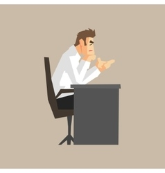 Boss At His Desk vector image vector image