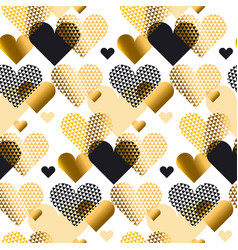 gold love concept icon repeatable motif for vector image vector image