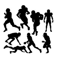 footballplayers vector image vector image