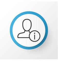 information icon symbol premium quality isolated vector image