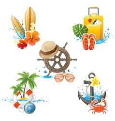 Travelling logos vector