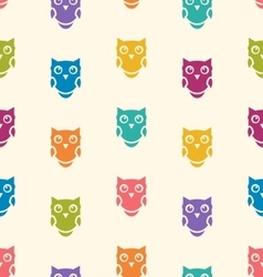 Cute seamless pattern with owls couple Blue and vector image