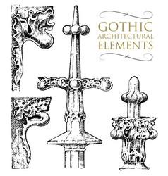 detail decorative ancient building architectural vector image