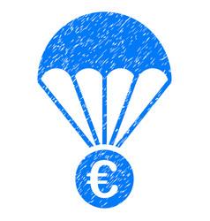 Euro parachute grunge icon vector