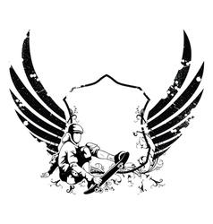 grunge urban emblem vector image vector image