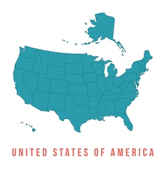 Map of USA with separable borders vector image