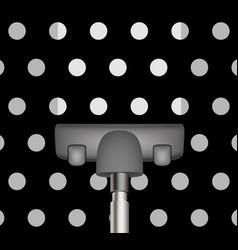 vacuum cleaner drains black carpet vector image