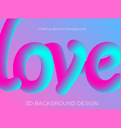 abstract background with 3d vector image