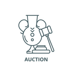 auction line icon auction outline sign vector image