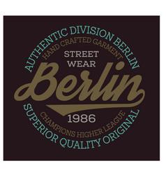 Berlin sport t-shirt design vector
