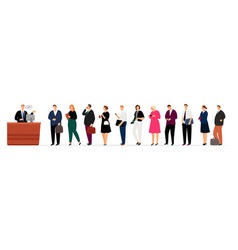 businesspeople long queue vector image