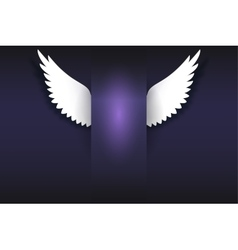 Card with angel wings and place for your message vector image