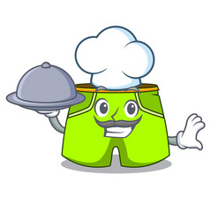 Chef with food cartoon shorts style for the vector